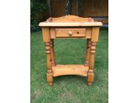 Quality solid pine telephone table