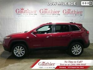 2016 Jeep Cherokee Limited  - Leather Seats -  Bluetooth - Low M