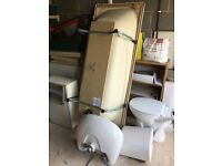 Bath, toilet, sink & cabinet