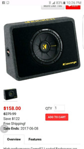 "10"" Competition Subwoofer $130"
