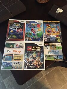 Wii and Gamecube games