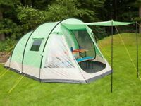 Tent family 5 berth shower proof with sewn in groundsheet