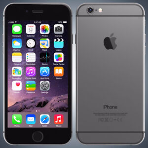 APPLE iPHONE 6 64GB SPACE GRAY FOR ROGERS(FIDO/CHATR MAYBE)