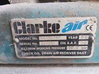 Clarke air compressor 160ltr
