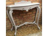 Beautiful up cycled console table