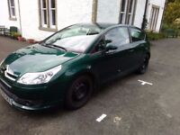 2006 CITREON C4 COUPE 1.6 DIESEL, GREEN - VERY CHEAP TO RUN