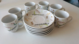 New Espresso cups and saucers