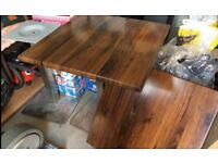 Pair of Wooden Top / Metal Based Pub / Cafe / Restaurant Tables/ Bistro/Catering