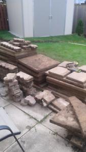 Free patio stones
