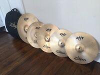 Zildjian ZHT Pro Bronze Cymbal Set and Case