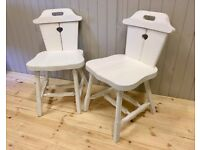 Handmade Rustic Shabby Chic Low Chairs £79