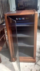 desk and display cabinet