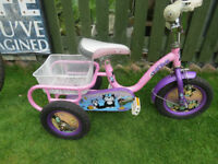 Concept Kitten 12 Inch Tricycle - Pink GREAT CONDITION FULLY WORKING READY TO RIDE.