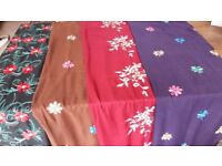 Embroidery Scarfs, 100% Viscose, various colours, pretty flower embroidery. Free postage.