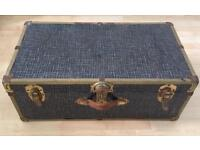 Vintage retro travel trunk luggage suitcase / coffee table £25 ono