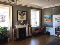 Leith Shore -Large, gorgeous Georgian 2 dbl. bedroom flat to let (furnished or unfurnished)