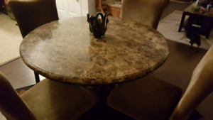 Ashley dining table and chairs and matching wine rack