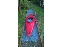 RTM Kayak plastic body boat with seat and two airbags, ideal for beginner