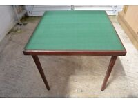 Card Table with Green Baize top, 30 inches square, folding legs, very good condition