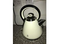 Reduced for quick sale. Russell Hobbs cream Toaster, kettle and microwave set + Next Bin