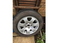 Audi A4 spare alloy and tyre