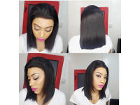 Glue less lace frontal wigs 100% human hair
