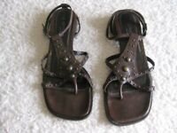 Brown Leather Sandals - PRICE REDUCED.