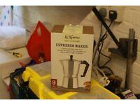 KitchenCraft Le'Xpress 9-Cup Stovetop Espresso Maker