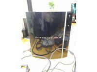 Playstation 3 plus 3 controllers and games