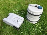 Caravan / Motorhome / Camping Fiamma Water Barrel & Waste tank kit COST £100