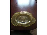 Large glass dish