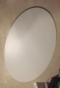 Large oval table top