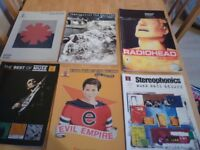 GUITAR TAB BOOKS X7 AND 6 GUITAR MAGS-RADIOHEAD-MUSE-RAGE AGAINST THE MACHINE-STEREOPHONICS-RHCP