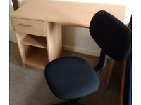 Free MDF desk and chair