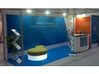 Exhibition stand: MODULAR LINEAR VECTOR EXHIBITION KIT