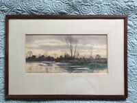 Pair of Robert Winchester Fraser (1848–1906) British Listed Antique Watercolor Landscapes