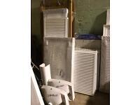 Huge selection of radiators shower trays sinks baths etc