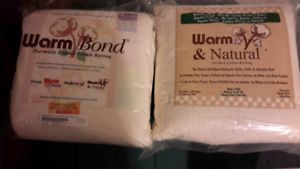 Warm Bond Bonded /Warm & Natural Needled Cotton Batting. Reduced