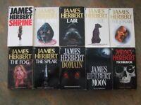 Selection of 10 James Herbert books