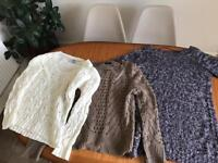 Knitted jumpers size 12