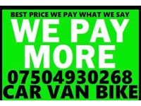 🇬🇧 07504930268 Sell your Car Van Bike for cash any condition running or not mot failed