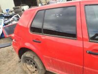 VW GOLF RED MK 4 2000 01 02 03 04 ALL PARTS AVAILABLE