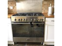 Belling range cooker, dual fuel