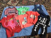 7 ITEMS OF BABY BOYS CLOTHES. AGE 3-6 MONTHS.