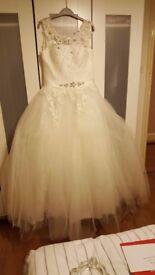 wedding dress (white)