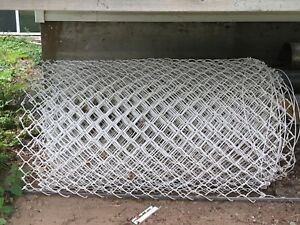 100ft plastic wrapped chain link fence