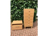 bedside cabinet and drawers