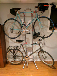 Indoor bike storage rack