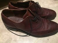 Barkers size 8 burgundy dark red brogues