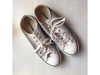 Cream-Grey ladies Converse size 7